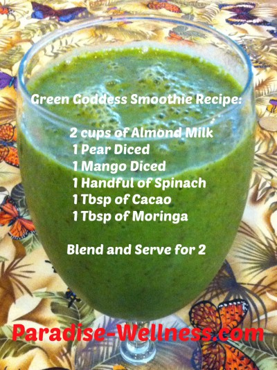 Green Goddess smoothie Facebook Recipe picture